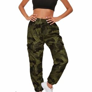 New! Forever 21 Camo Print Cargo Wind Joggers